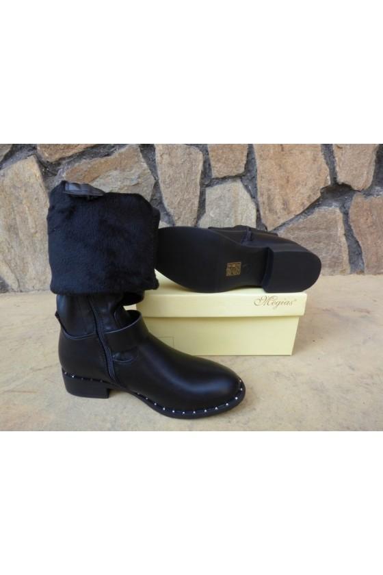 Women boots CASSIE 19-1480  black pu