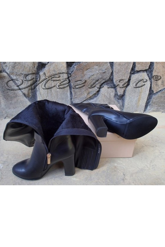 Lady boots Christine 20w18-328 black pu