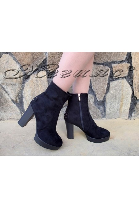 Women boots Christine 20w18-323 black suede