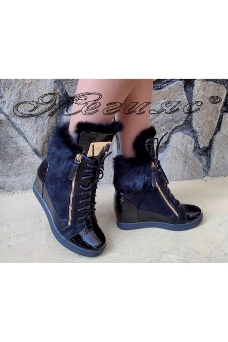 Lady boots Christine 20w17-224 black pu