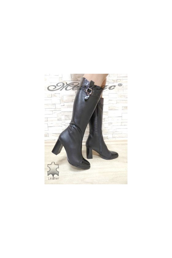 1770 Women boots black leather