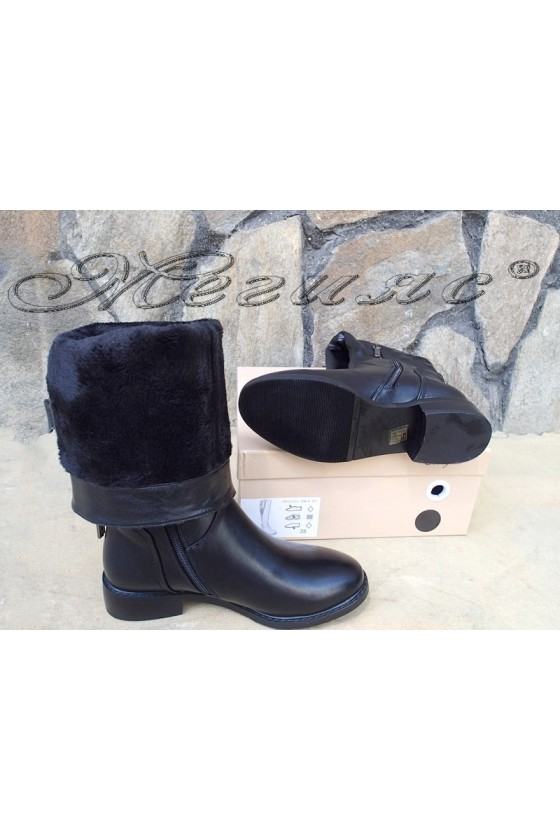Lady boots Christine 20W18-327 black pu