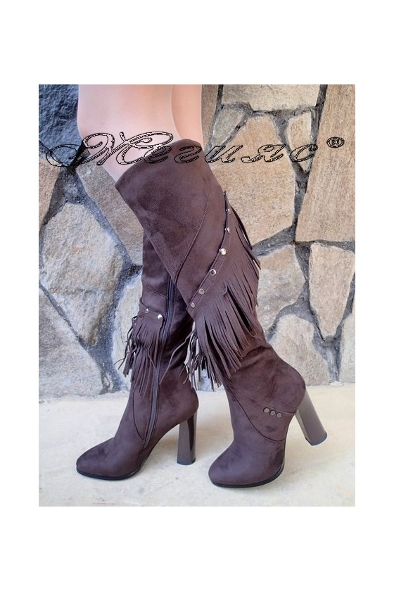 Lady boots Christine 20W18-338-1 brown suede