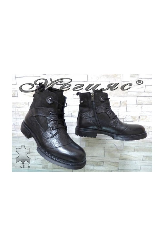 19-232-00 Men's boots black leather