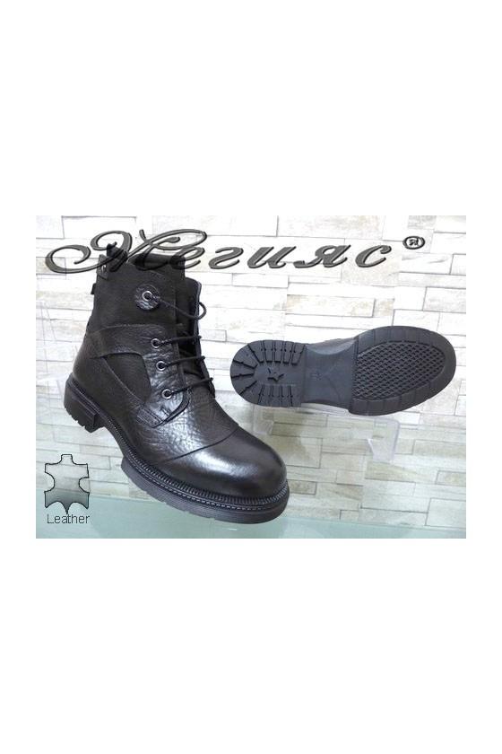 19-232-00 Men's boots black leather