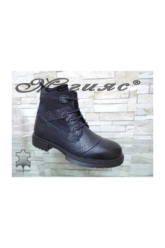 19-232-00 Men's boots blue leather