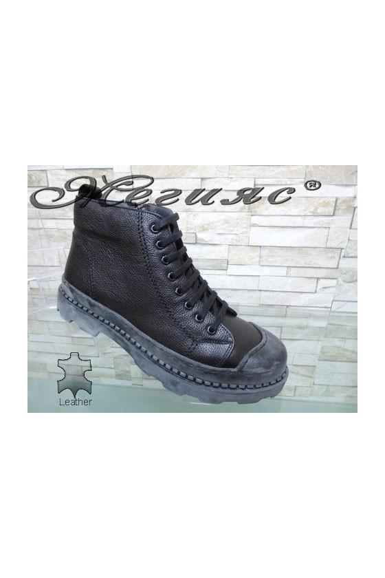 342 Men's boots black leather