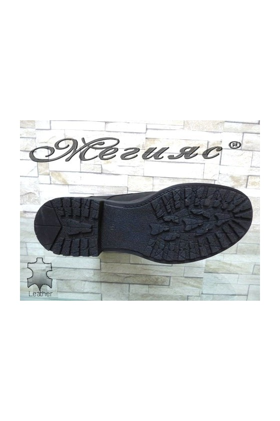175-34 Men's boots black leather
