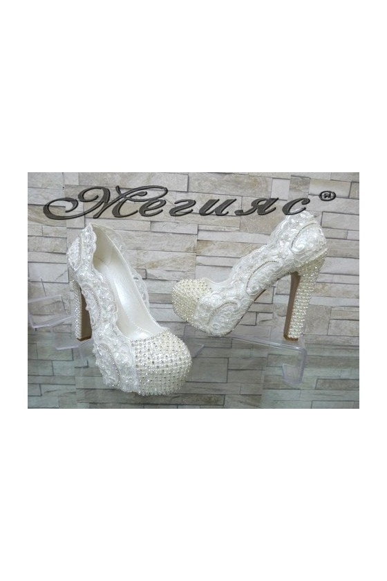 4499 Women elegant shoes white pu