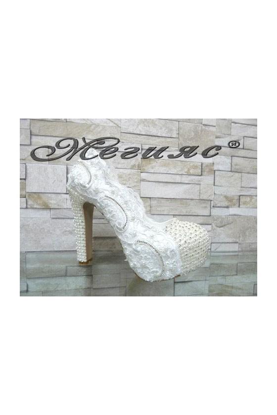 4499 Women elegant shoes white pu
