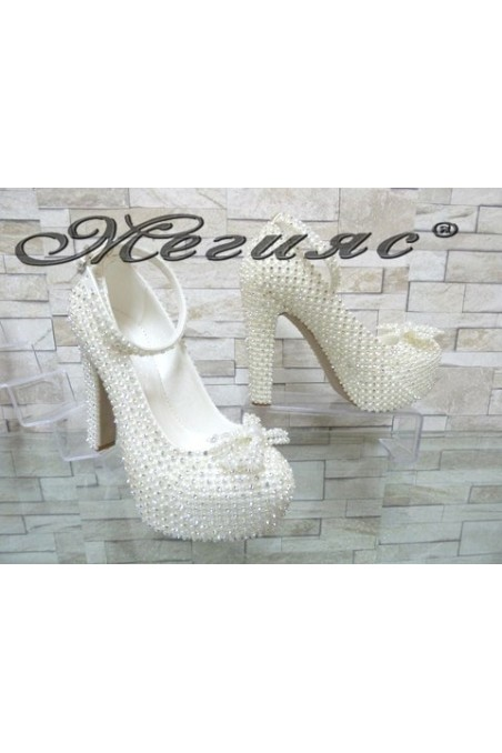 4498 Women elegant shoes white pu