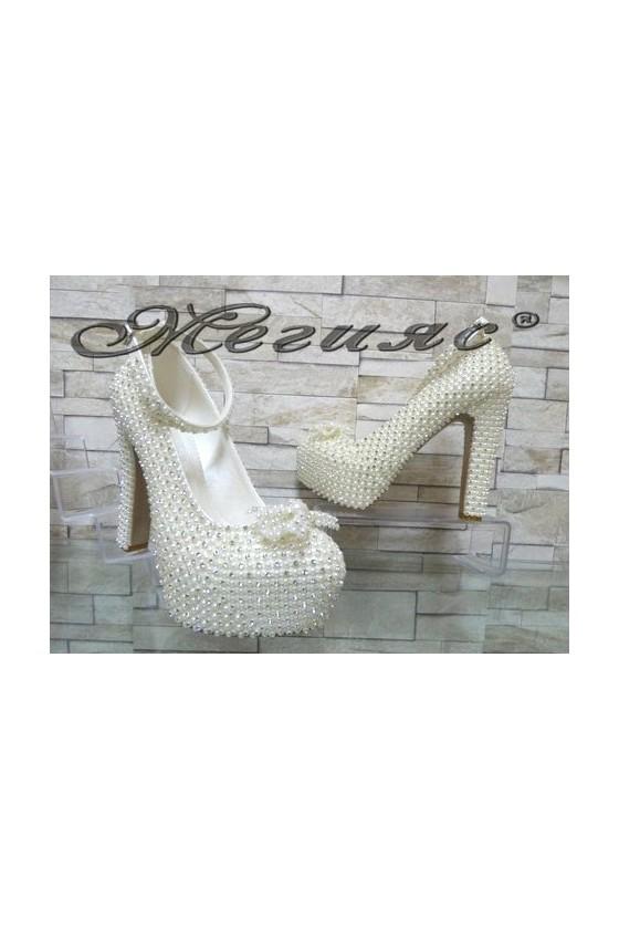 Дамски булчински обувки на ток 4498
