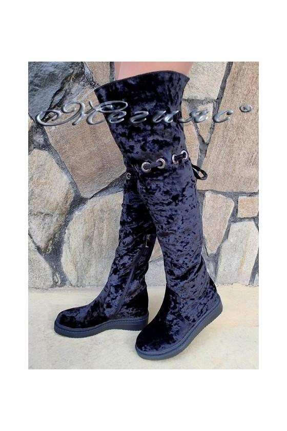 Lady boots Carol 20W18-2016 black velvet