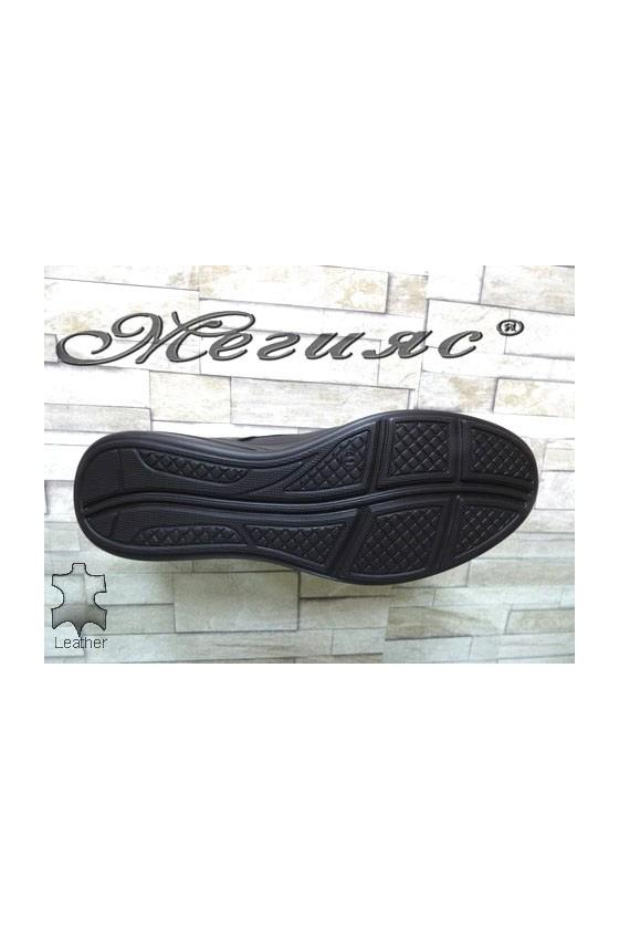 2586 Men's shoes black leather