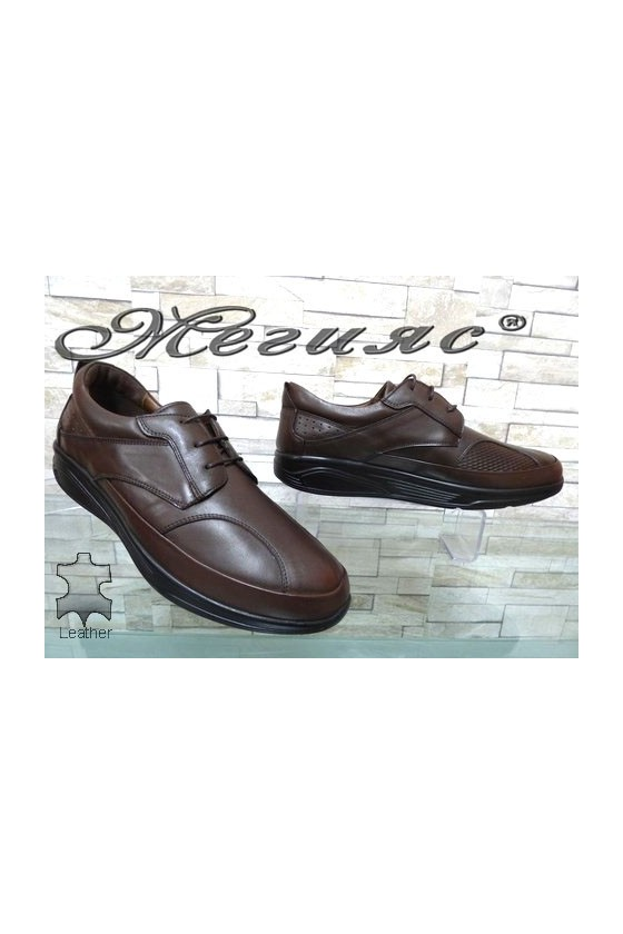 2586 Men's shoes brown leather