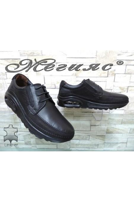 2882 Мъжки обувки черни от естествена кожа