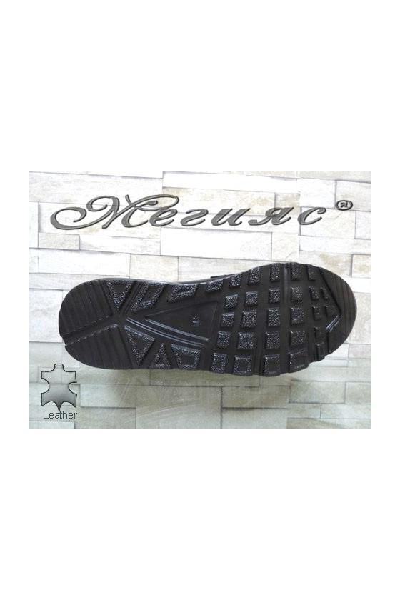 2882 Men's shoes black leather