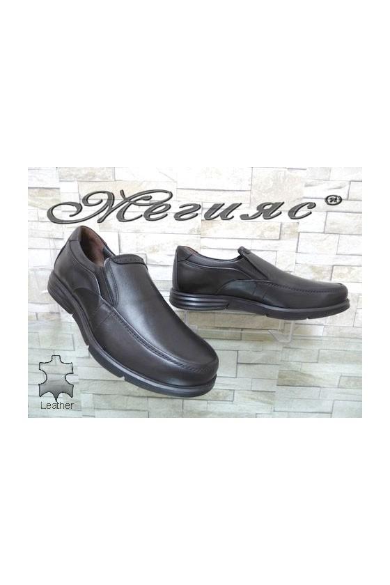 2587 Мъжки обувки черни от естествена кожа