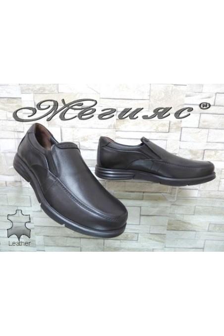 2887 Мъжки обувки черни от естествена кожа