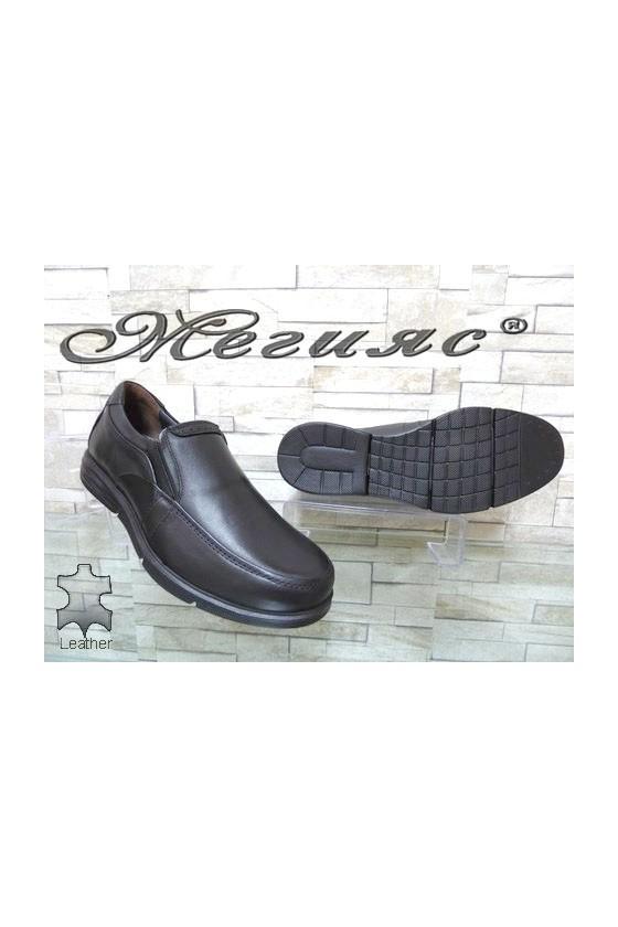 2587 Men's shoes black leather