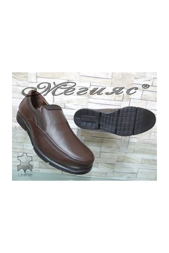2587 Men's shoes brown leather