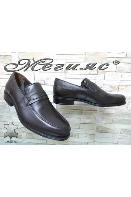 2538 Мъжки обувки черни от естествена кожа