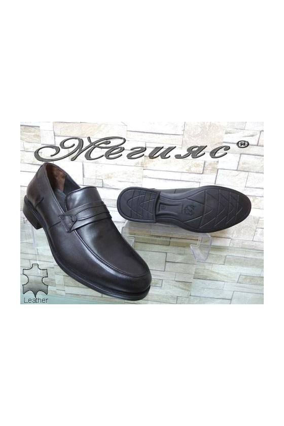 2538 Men's shoes black leather