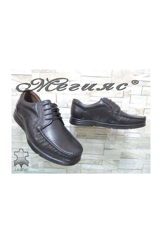 2590 Men's shoes black leather