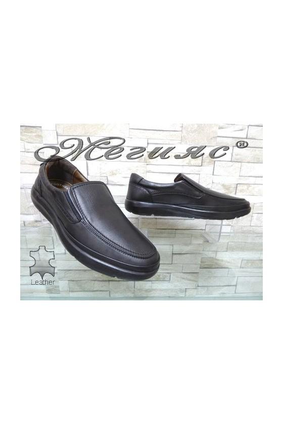2541 Men's shoes black leather