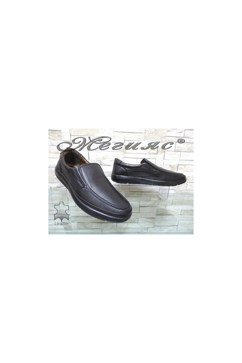 2541 Мъжки обувки черни от естествена кожа