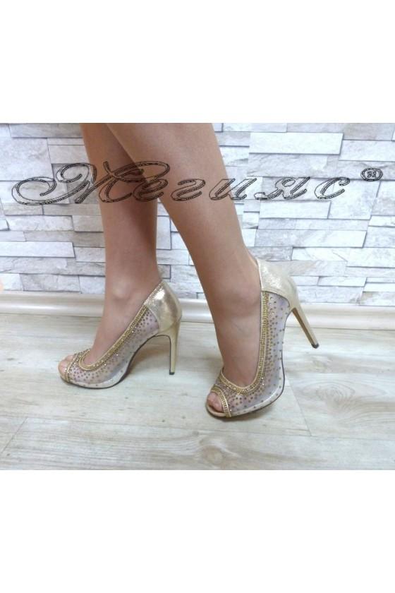 Lady shoes Jeniffer 18s20-124 lt.gold