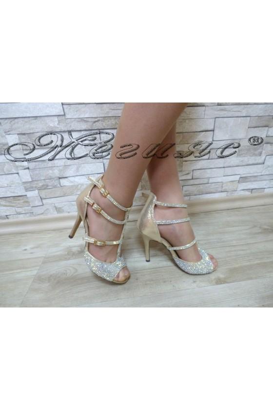 Дамски сандали  Jeniffer 18s20-51 златисти елегантни на висок ток