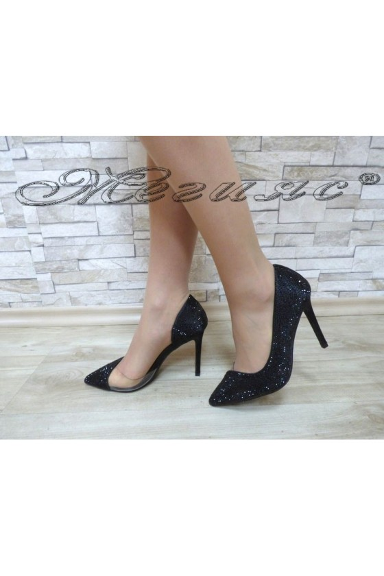Дамски обувки Jeniffer 18s20-112 черни елегантни на висок ток