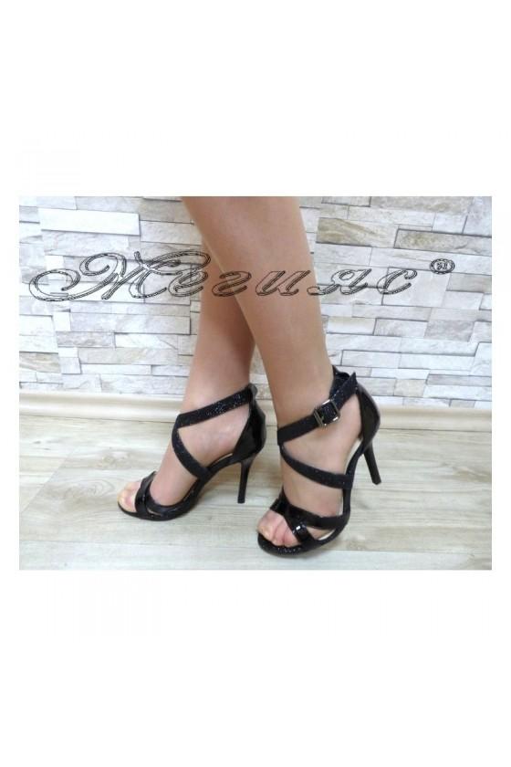 Дамски сандали  Jeniffer 18s20-120 черни елегантни на висок ток