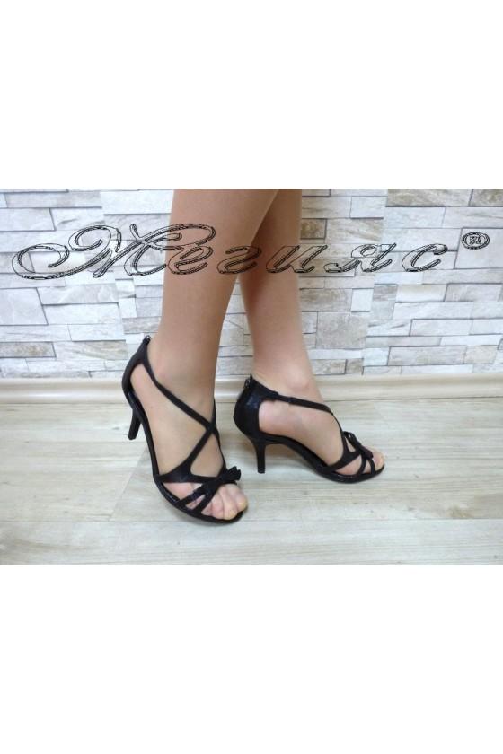 Дамски сандали  Jeniffer 18s20-114 черни елегантни на среден ток