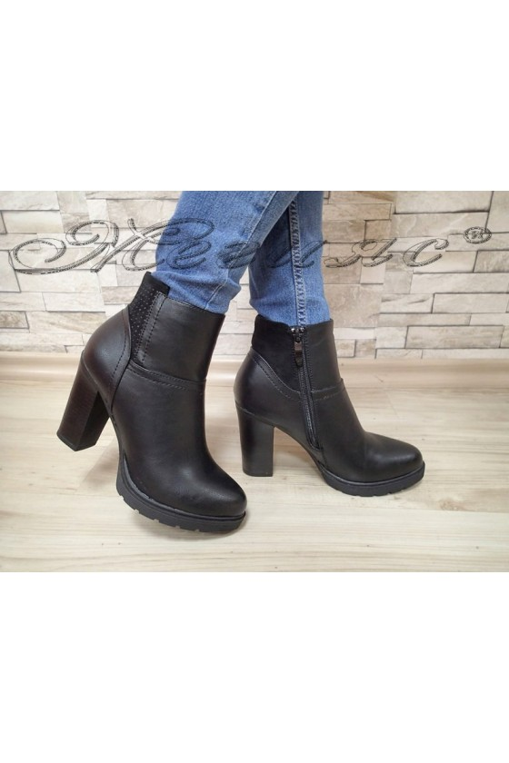 Lady boots AMY 20W17-287 black pu