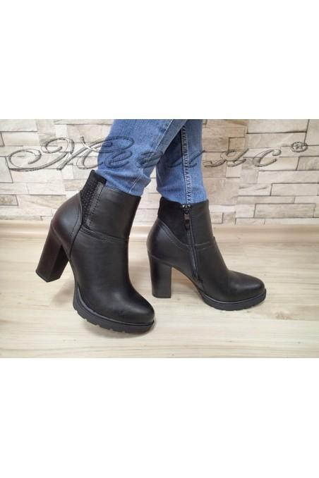 Lady boots AMY 20W17-287 black pu