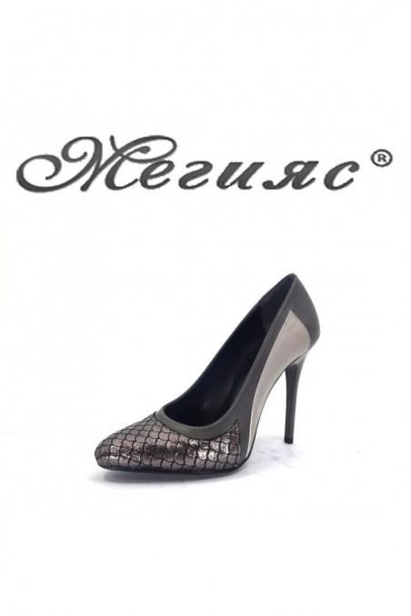 160-0-947 Lady elegant shoes grey pu