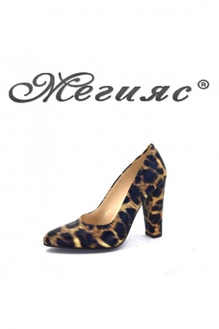 162-K  Дамски обувки леопард на висок ток