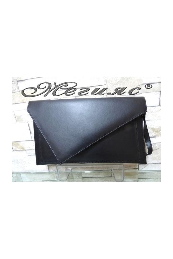 233/548 Дамска чанта черна от еко кожа