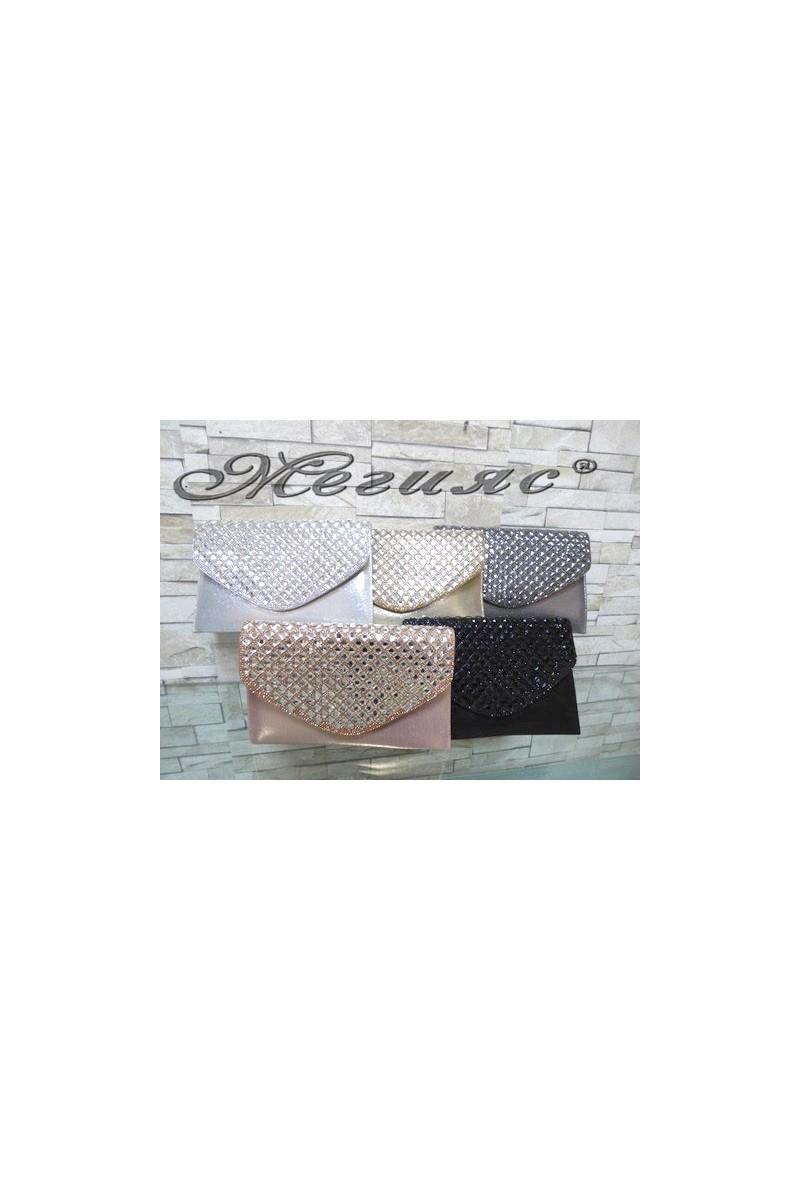 499/428 Дамска официална чанта с декорация от камъни