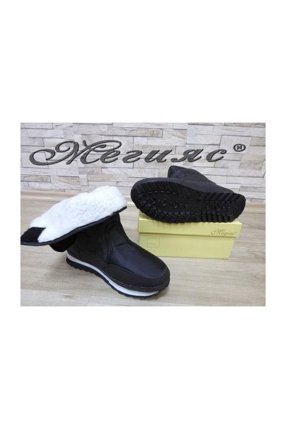 19-1310 Lady warm boots black pu/textiles