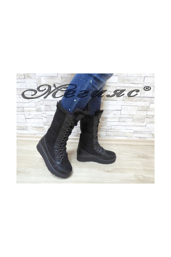 Carol 19-1055 Lady boots black pu