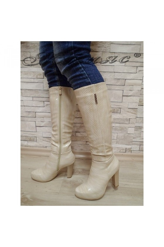 Lady boots 20W17-62 beige pu