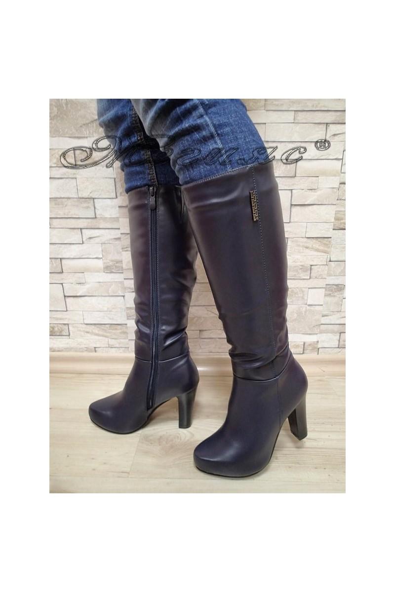 Lady boots 20W17-63 blue pu