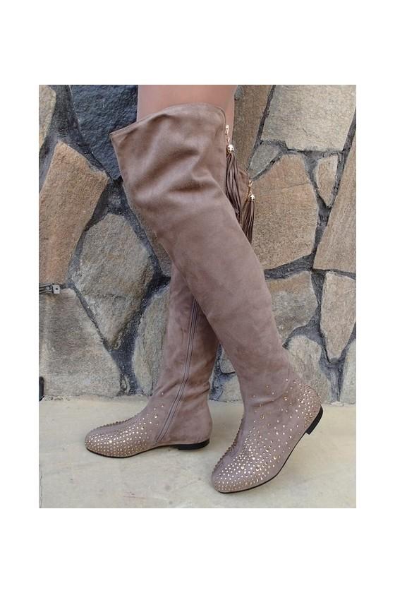 Lady boots Christine 20W17-245 beige