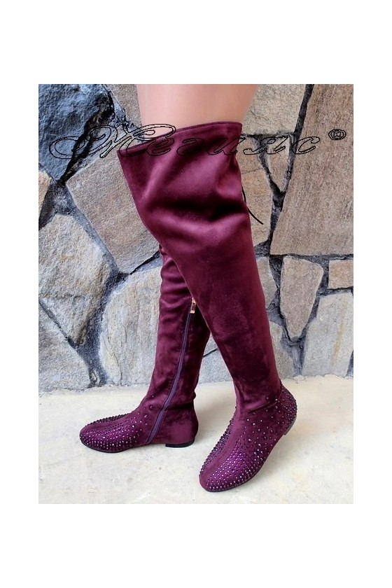 Lady boots Christine 20W17-245 burgundy suede