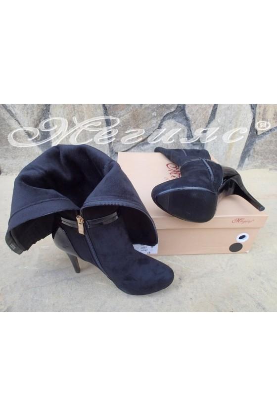 Lady boots Carol 20W18-2001 black suede