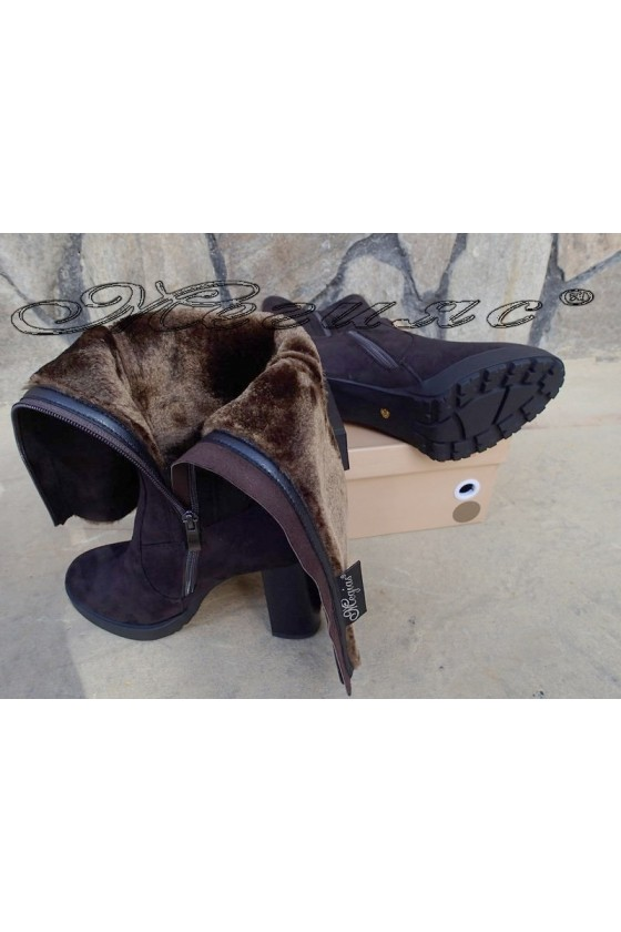 Lady boots Carol W18-2183 brown suede