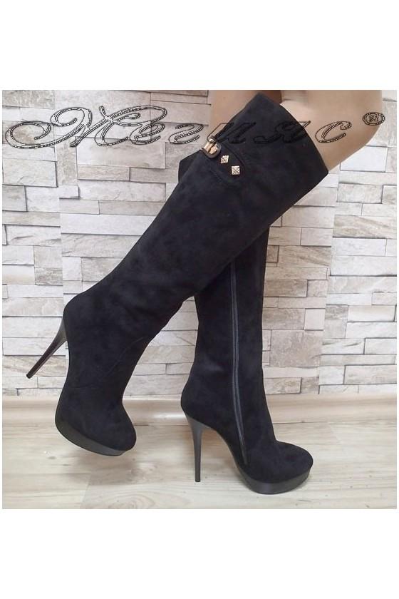 Lady boots Carol 20W17-120 black suede